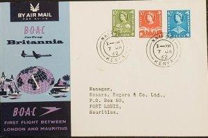 BOAC 1962 Nairobi Kenya First Flight To Port Louis Mauritius