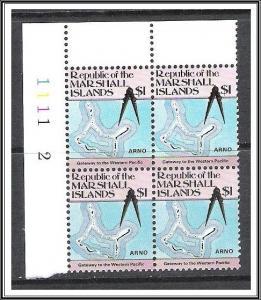 Marshall Islands #49A Maps Plate Block MNH