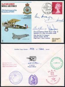 RAF23c No.19 Squadron 25th Ann of the Formation of NATO Signed by four