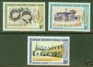 Gambia Scott 235-7 MNH** Human Rights stamp set