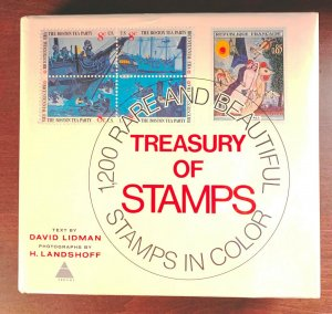 Treasury of Stamps, by David Lidman. 1200 Rare & beautiful stamps, color & B&W