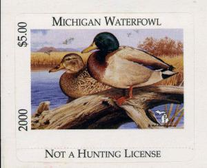 MICHIGAN #25 2000 STATE DUCK STAMP MALLARDS  by Rod Lawrence