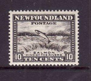 Newfoundland-Sc #193-unused,og, NH 10c Salmon-id5-1932-7-