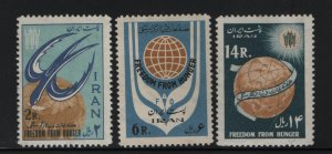 Iran 1240-1242 (3) Set H 1963 FAO Freedom from Hunger Campaign