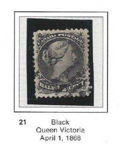 Canada 21 Used Nice Stamp CV$80