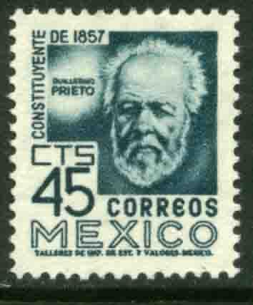 MEXICO 898, 45cents 1950 Definitive 2nd Printing wmk 300 MNH
