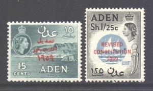 Aden Scott 63/64 - SG74/75, 1959 Revised Constitution Set MNH**