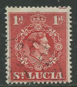 St. Lucia - Scott 112 - KGVI - Definitive -1938 - FU -Single 1p Stamp