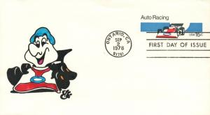 1979 Ontario California NASCAR Auto Racing Anniversary Postal First Day Cover