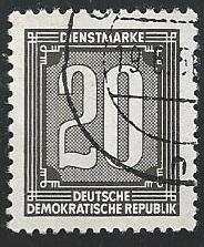 Germany DDR #O30 20pf Numeral
