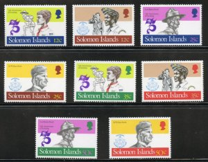 Solomon Islands Scott 481-88 - MVFNHOG - Scouts - SCV $3.00