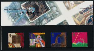 Great Britain 1879-82 in Presentation Folder MNH Architecture, Bible, Religion