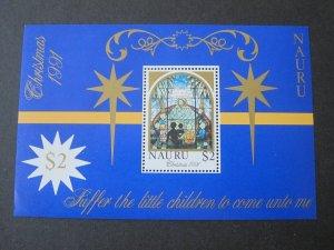 Nauru 1991 Sc 395 Christmas Religion set MNH