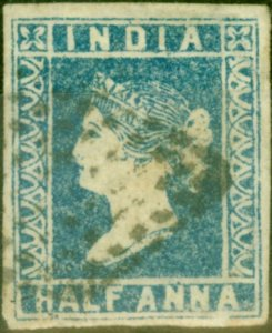 India 1854 1/2a Pale Blue SG3 Die I Good Used