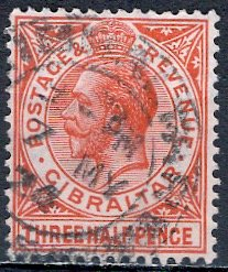 Gibraltar; 1922: Sc. # 78a: O/Used Single Stamp