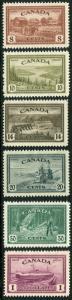CANADA # 268 - 273 VF Light Hinged Set - FARM LAKE COMBINE RIVER FERRY - S5719