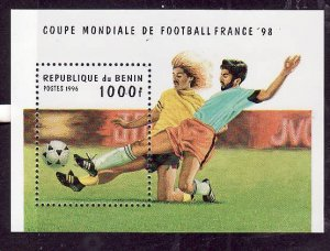 Benin-Sc#828-unused NH sheet-Sports-World Cup Soccer-1996-