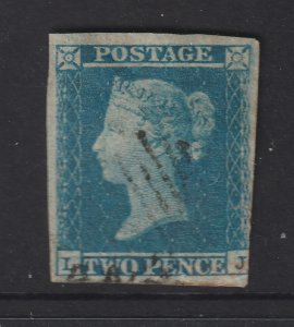 Great Britain an imperf QV 2d blue from 1841
