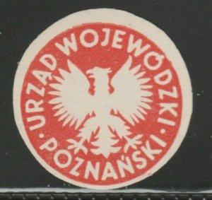 Poland Poznañ Voivodeship Office Cinderella Poster Stamp Reklamemarken A7P4F813