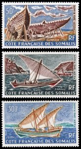 Somali Coast 1964-65 Scott #C32-C34 Mint Never Hinged