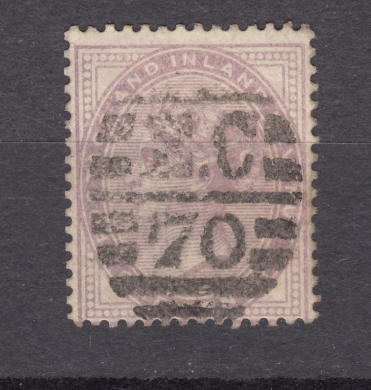 J27452 1881 great britain used #88 queen 14 dots
