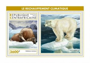 HERRICKSTAMP NEW ISSUES CENTRAL AFRICA Global Warming S/S