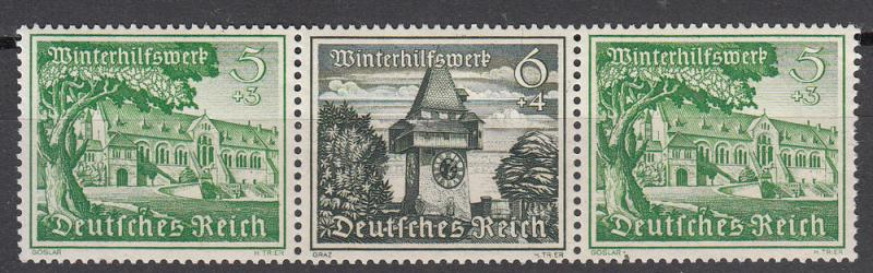 Germany - 1938 Views Se-tenant Mi# W139 - MNH  (6002)