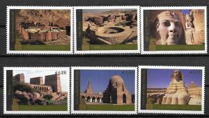 United Nations 2005 Vienna World Heritage Site - Egypt sc# 370a-f MNH