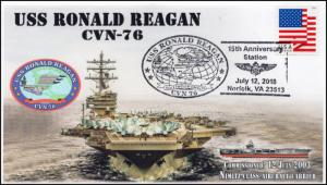 18-301, 2018, USS Ronald Reagan, Pictorial, Postmark, CVN-76, Event Cover