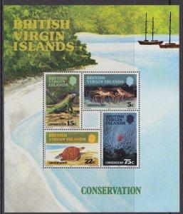 British Virgin Islands 349a Souvenir Sheet MNH VF