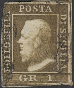 TWO SICILIES 11  1 Gr  Used FVF (51418)