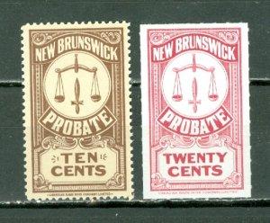 NEW BRUNSWICK LAW STAMPS #NBP14a & #NBP22(VAN DAM) ...MNH...$7.00