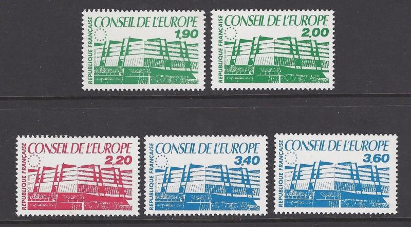 France 1986-7 Council Strasourg VF MNH (1o40-4)