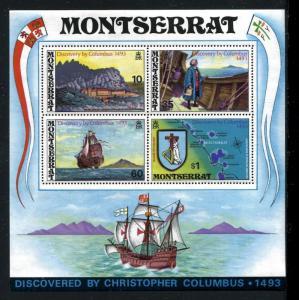Montserrat 295a, MNH Discovery of America 500th Ann 1973. Columbus Ship x20421