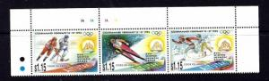 Aitutaki 488 NH 1994 Olympics strip of 3 been folded