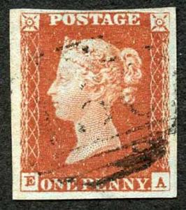 1841 Penny Red (EA) Plate 53 Superb Four Margin