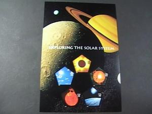 U.S.# 3410-MNH-EXPLORING THE SOLAR SYSTEM--SOUVENIR SHEET OF 5 +LABEL-2000