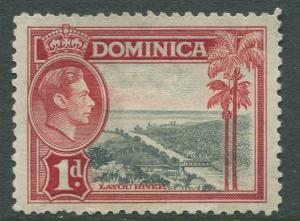 Dominica - Scott 98 - KGVI Definitive Issue - 1938 - MNG - Single 1d Stamp