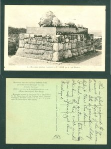France.1950is Postcard  WWI Memorial 1916 130th Division. General Toulorge