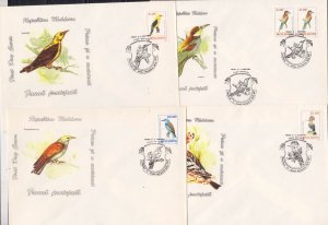 MOLDOVA - 1993 FAUNA / BIRDS - SET OF 7 FDC