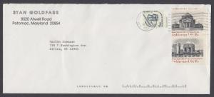 US Sc 1928, 1930 Architecture MISPERFS on 2004 Cover to New York