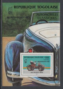 Togo 1258 Car Souvenir Sheet MNH VF