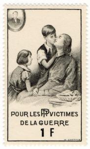 (I.B) France (Great War) Cinderella : PTT War Victims Fund 1Fr