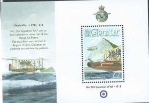Gibraltar - 2008 - Royal Air Force Stamp Souvenir Sheet Scott #1141a