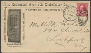 1890 #220 ON LRG ILLUST ADVT THE ROCHESTER AROMATIC DISINFECTOR Co COVER BS1740