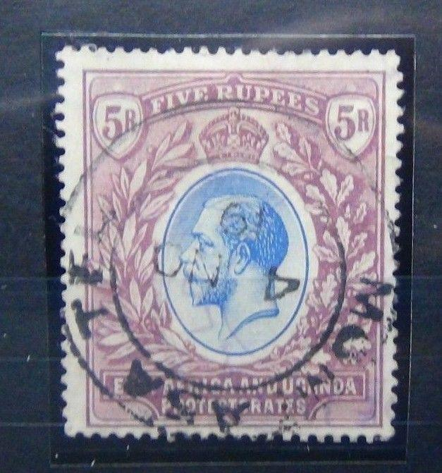East Africa and Uganda 1912 - 1921 5R Blue & Dull Purple SG57 Used