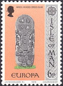Isle of Man # 132 mnh ~ 6p Gravestone - Wheel-headed Cross Slab