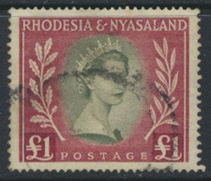 Rhodesia & Nyasaland SG 15 Sc# 154  Used  please see scans and details