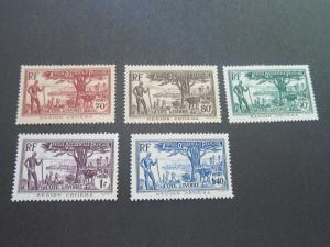 French Ivory-Coast 1936 Sc 131,3,5,8,140 MH