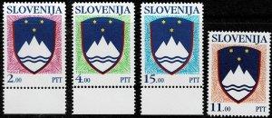1991 Slovenia Scott Catalog Number 103, 105 ,110,  and 112 Unused No Gum